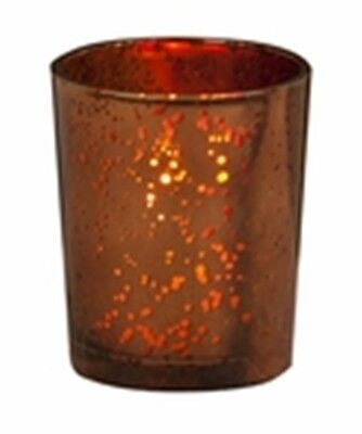 Votive Candle Holder, Brown Rustic Glass, New, Holds Tealight or Votive Candles Brown Rustic Candle Holder
