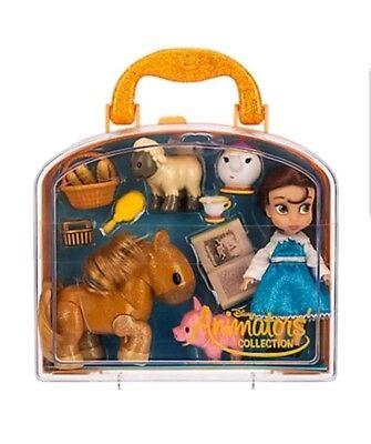 NEW Disney Parks Animators Collection Belle Mini Doll Play Set 5 Inch (Disney Belle Doll)