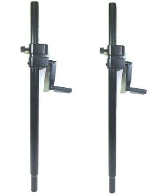 One (1) Pair LASE 101 Speaker Pole Mount Crank System with folding hand crank.