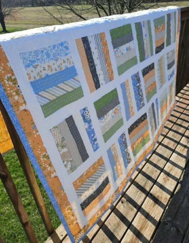 HANDMADE PIECED PROFESSIONALLY QUILTED SPRING QUILT