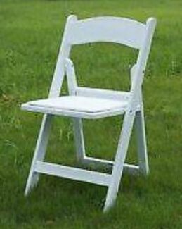 Adult & Childrens White folding chairs just $2.85 each