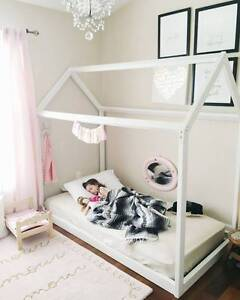 Scandinavian Style House Shaped Kids Bed Frame and Mattress Bundall Gold Coast City Preview