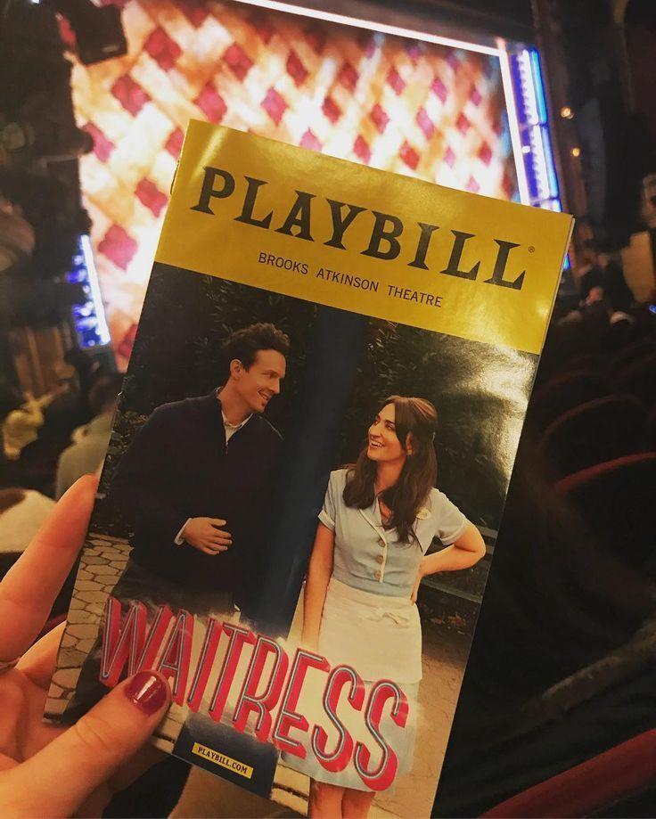 WAITRESS MUSICAL Playbill Broadway Musical sara Bareilles Jason Mraz