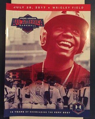 2017 Under Armour All America Game Program Kelenic Rocker Cacas New Prospect MLB