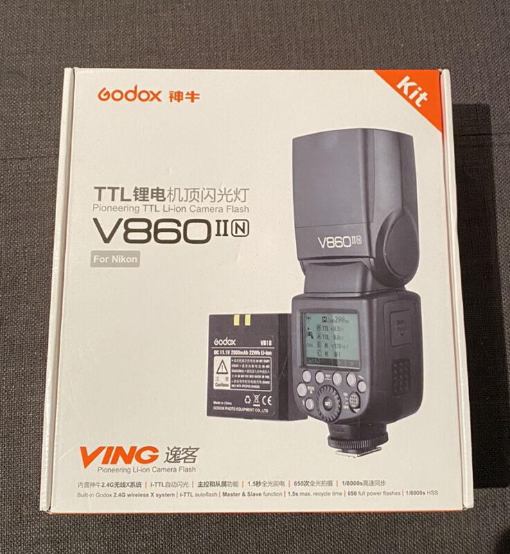 Godox VING V860IIN TTL Li-Ion Flash Kit for Nikon Camera Fast Shipping