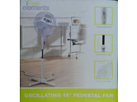 OSCILLATING 16 inch PEDESTAL FAN - FINE ELEMENTS