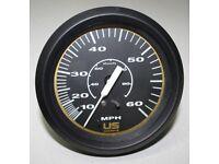 Faria US Marine Boat Speedometer 0-60 MPH - SE9545A