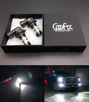 2 x 50W H10 9145 High Power LED CREE 6000K White Fog Lights Driving Bulbs DRL