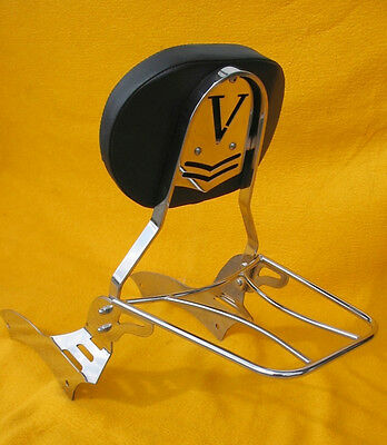 Kawasaki VN900 Vulcan Classic Custom Sissy bar passenger backrest with rack