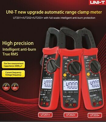 Uni-t True Rms Digital Clamp Meter Multimeter Ac Dc Volt Amp Ohm Cap Ncv Tester