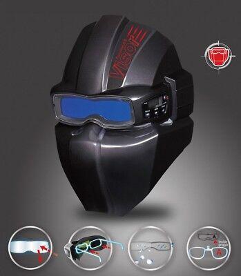 SERVORE Premium Auto Darkening Welding Goggle Arcshield-2 w/ Visor BLK PICTURES!