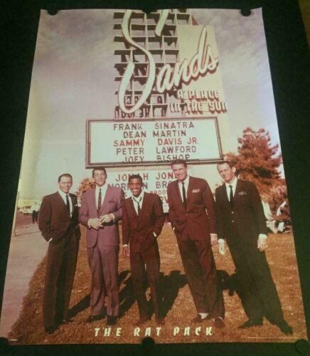 RARE Vintage The Rat Pack Poster Printed in the UK Frank Sinatra Dean Martin