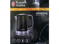 RUSSELL HOBBS 1.7L WINDSOR BLACK KETTLE