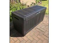 NEW Keter Large Garden Storage Box, anthracite grey