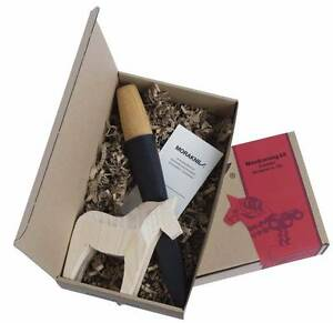 *NEW* Woodcarving Knife Kit 120/with Pouch & Wooden Horse/By Mora Port Lincoln Port Lincoln Area Preview