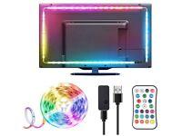 USB LED TV Backlights 3M 5050 RGBW Multi-Coloured for 46-65 Inch TV