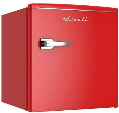 Avanti 1.7 Cu. Ft. Retro Style Single Door Compact Refrigerator - Red
