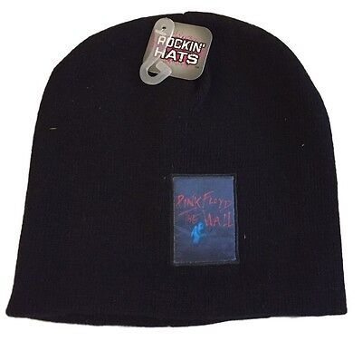 Pink Floyd Black Knit Hat / Cap The Wall Album  Winter Ski Beanie NEW LOOK