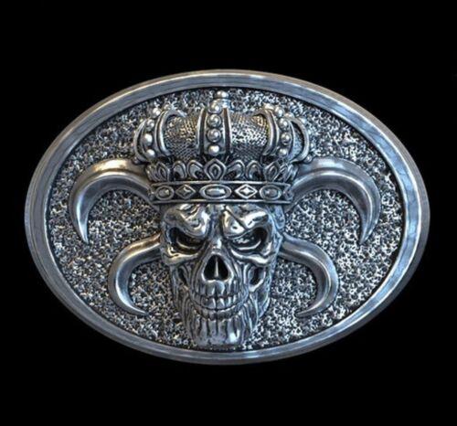 Petrobond Cast Silver Bar Pattern King Skull Crown Graphite Mold Alternative!