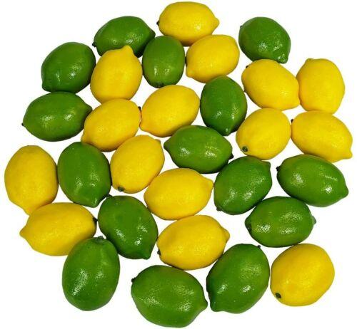 28 PCS Artificial Lemons and Limes Fake Fruit Lemons Artificial Lifelike�Party