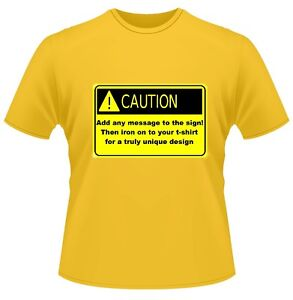 CAUTION-PERSONALISED-TEXT-ANY-MESSAGE-T-Shirt-Men-Ladies-Hen-Stag-Party