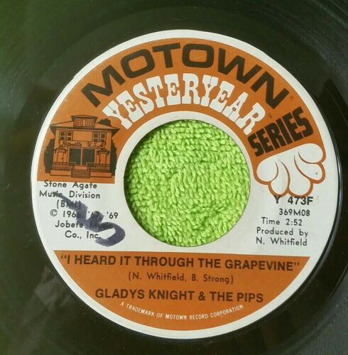 GLADYS KNIGHT PIPS I HEARD IT THROUGH THE GRAPEVINE / END OF ROAD VG 45 FF - $1.95