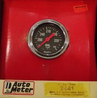2 Inch Mechanical Oil Temperature Gauge Kit Autogage by AutoMeter 2441 Autometer Autogage Mechanical Oil