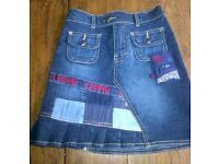 NEW Chipie denim jeans skirt size 4 years old-never worn-in NW3