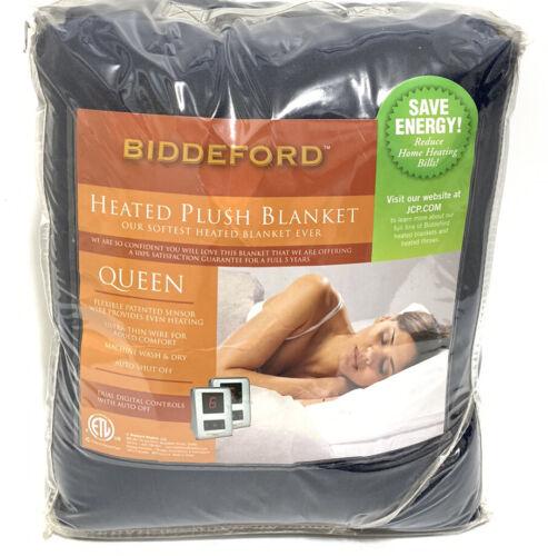 biddeford heated electric microplush blanket queen dual