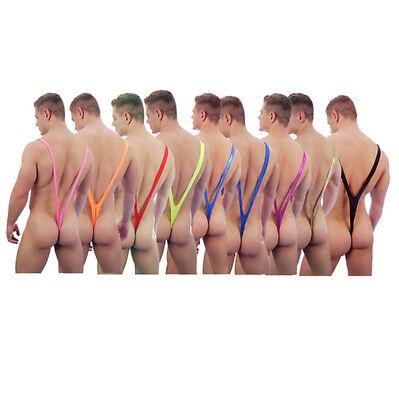 Novelty Costume (Men Novelty Borat Style Mankini Underwear Lingerie Bodysuit Costume Thongs New )