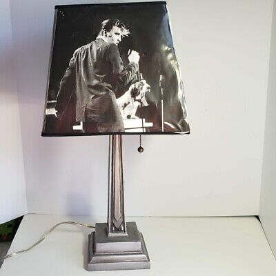 Elvis Presley Table Lamp Wertheimer Photographer Collection Edge Damage to Shade for sale  Shipping to India