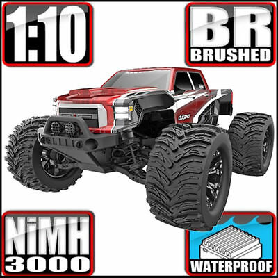 Redcat Racing Dukono 1/10 Scale Electric Brushed 4WD RC Monster Truck Red *NEW
