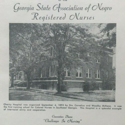 1951 Program Georgia State Association of Black Registered Nurses, Savannah