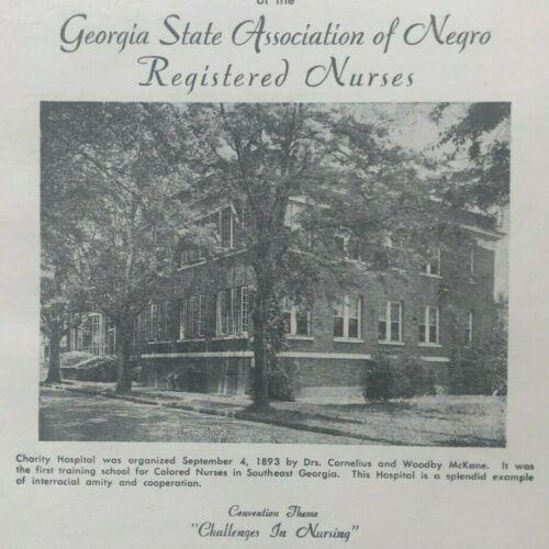 1951 Program Georgia State Association of Black Registered Nurses, Savannah