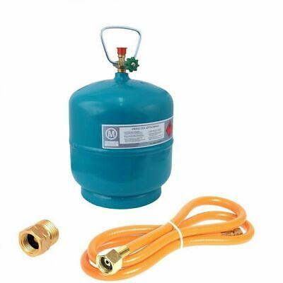 Leere befüllbare Gasflasche 3 kg Propan Butan + 1,5m Umfüllschlauch + Adapter