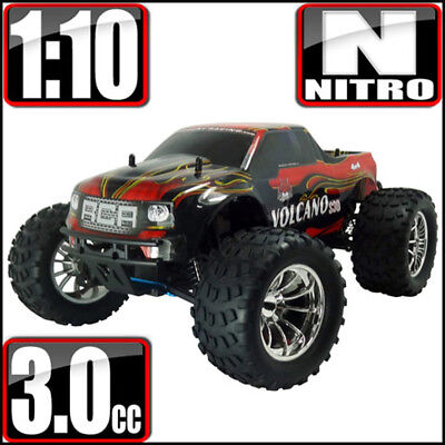 Redcat Racing Volcano S30 1/10 Scale Nitro 4WD Monster RC Truck Red Flame NEW ()