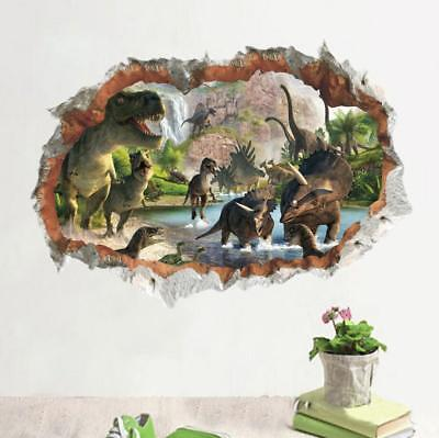 3D dinosaur Jurassic Removable Wall Stickers Decal Kids bed room Home Decor USA - Dinosaur Stickers