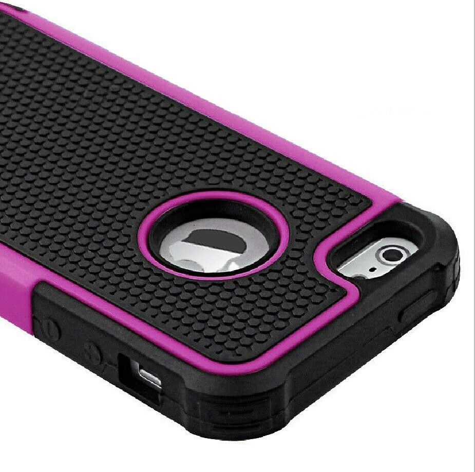 PC Shockproof Dirt Dust Proof Hard Matte Case Cover For iPhone 4S/5S/5C/6
