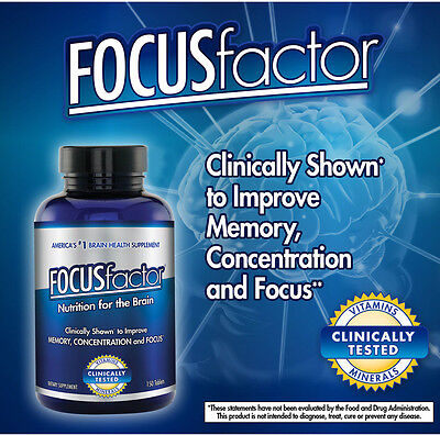 Focusfactor  Memory Concentration   Focus Supplement  150 Tablets
