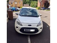 Ford KA (start/stop) white for sale; in need of a quick sale, so open to offers!