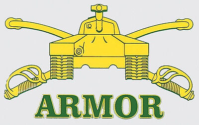 US ARMY ARMOR STICKER - MADE IN THE USA!!