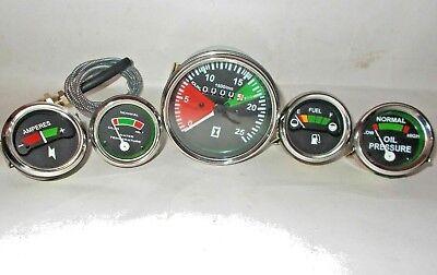 Massey Ferguson Gauge Set- Oil Pr Male Temp Fuel Ammeter MF 35,50,65,135,150