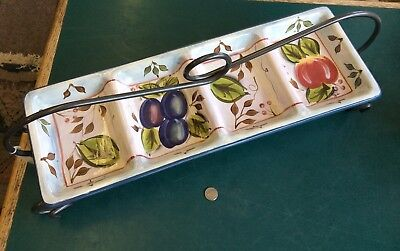 Black Forest Fruits 4 Section Condiment Tray By Heritage Mint