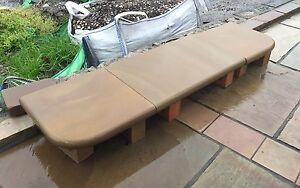 INDIAN STONE BULLNOSE STEP 1260MM LONG TO MATCH SAWN/POLISHED PAVING / FIREPLACE