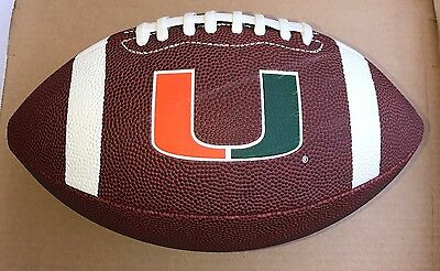 - ☆ NEW Miami Hurricanes FOOTBALL by Rawlings FULL SIZE Leather VERY COOL BALL