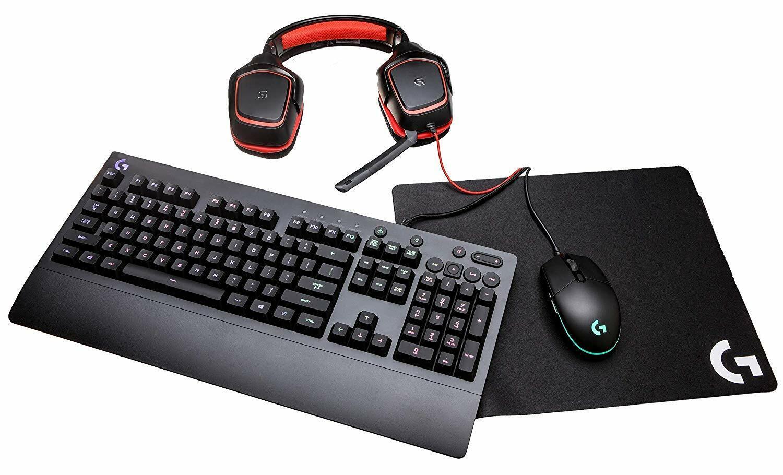 Logitech G Gear UP Gaming Bundle Gaming Grade Mouse, Keyboar