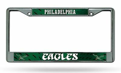 Philadelphia Eagles RETRO Metal Chrome License Plate Frame Auto Truck Car -