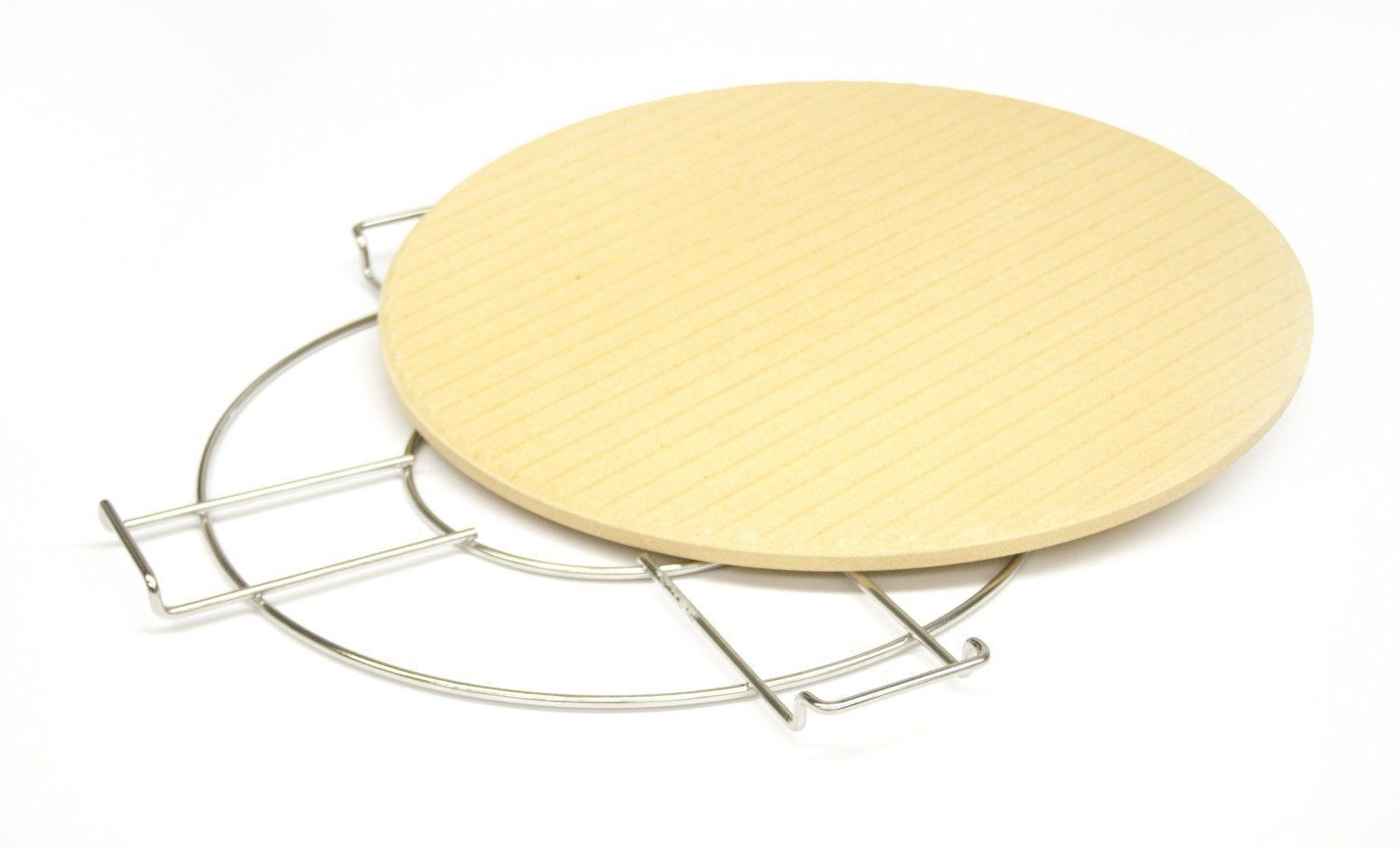 """Broil King 13"""" High Quality Pizza and Baking Stone With Wire"""
