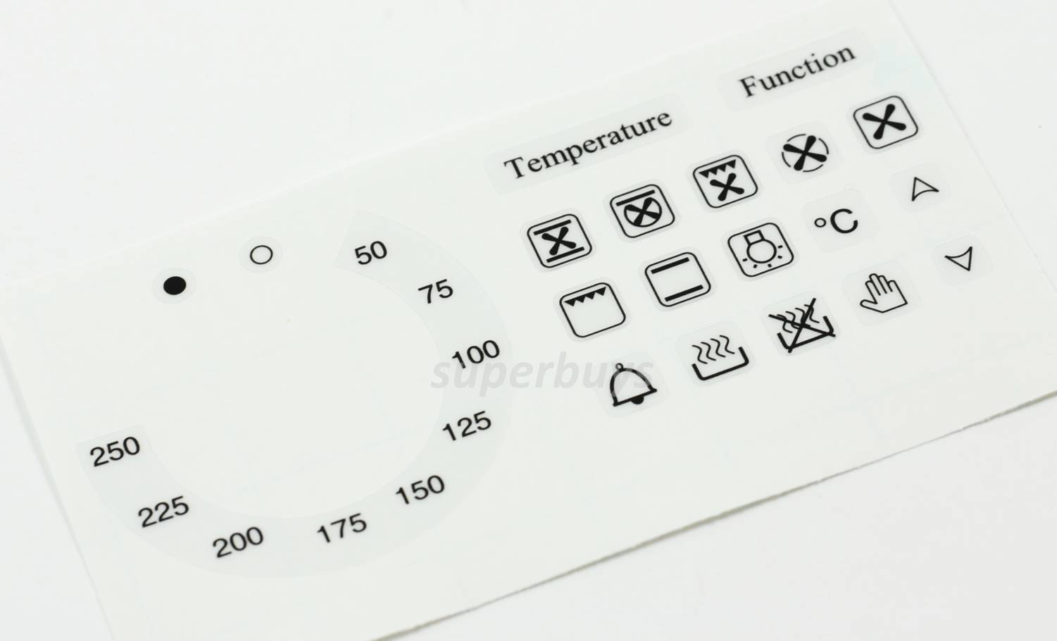20pc 50 250 Temperature Symbols Function Degree Oven Adhesive Dial