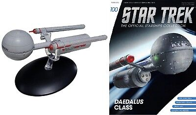 #100 Star Trek Daedalus Class Eaglemoss Metal Ship from UK Mailed from USA